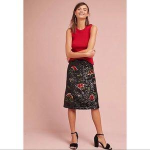 NWT Anthropologie Maeve 0 Garden Glitz Skirt